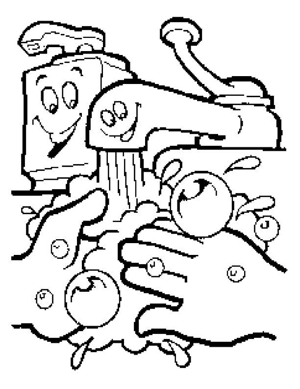 This is Free Coloring Pages Of Handwashing And Germs-16919