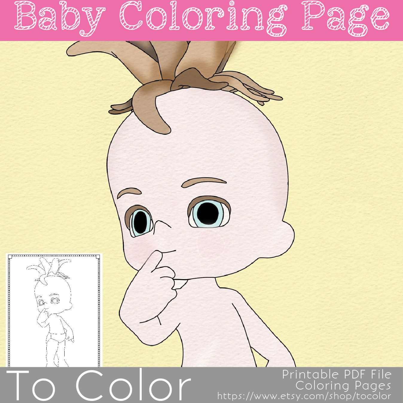 Baby Girl Printable Coloring Pages For Adults Shower Idea PDF JPG