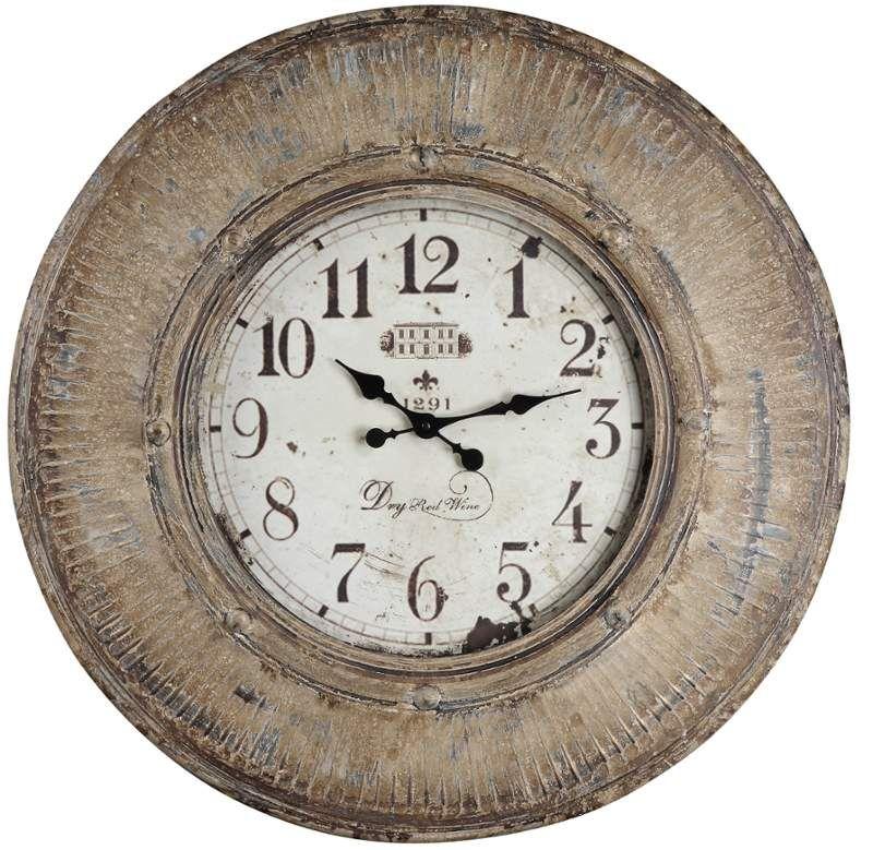 Kensington 29 5 X 29 5 Wall Clock Oversized Wall Clock Brown Wall Clocks Large Wall Clock