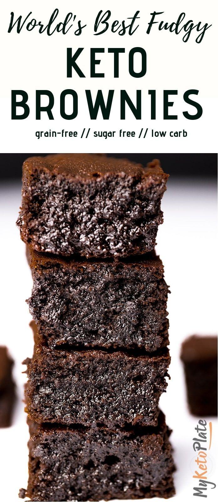World S Best Fudgy Keto Brownies Recipe Keto Brownies Sugar