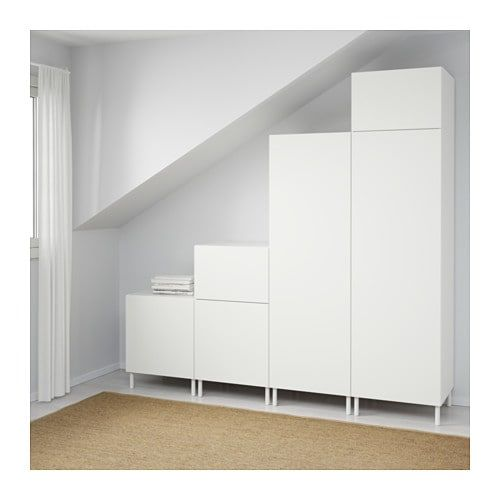 Platsa White Fonnes White Wardrobe Width 240 Cm Height 231 Cm Ikea Ikea Wardrobe White Bedroom Furniture Ikea Ikea Bedroom
