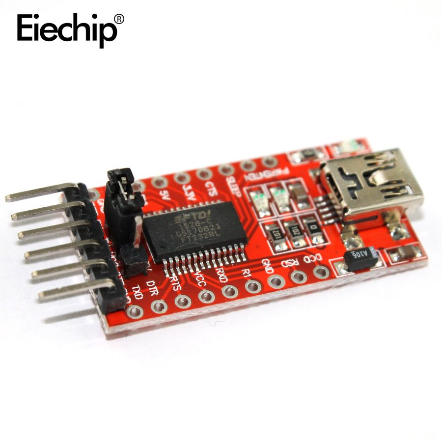 FT232RL FTDI Serials Adapter Module Mini Port Arduino USB to TTL 3.3V 5.5V ZY