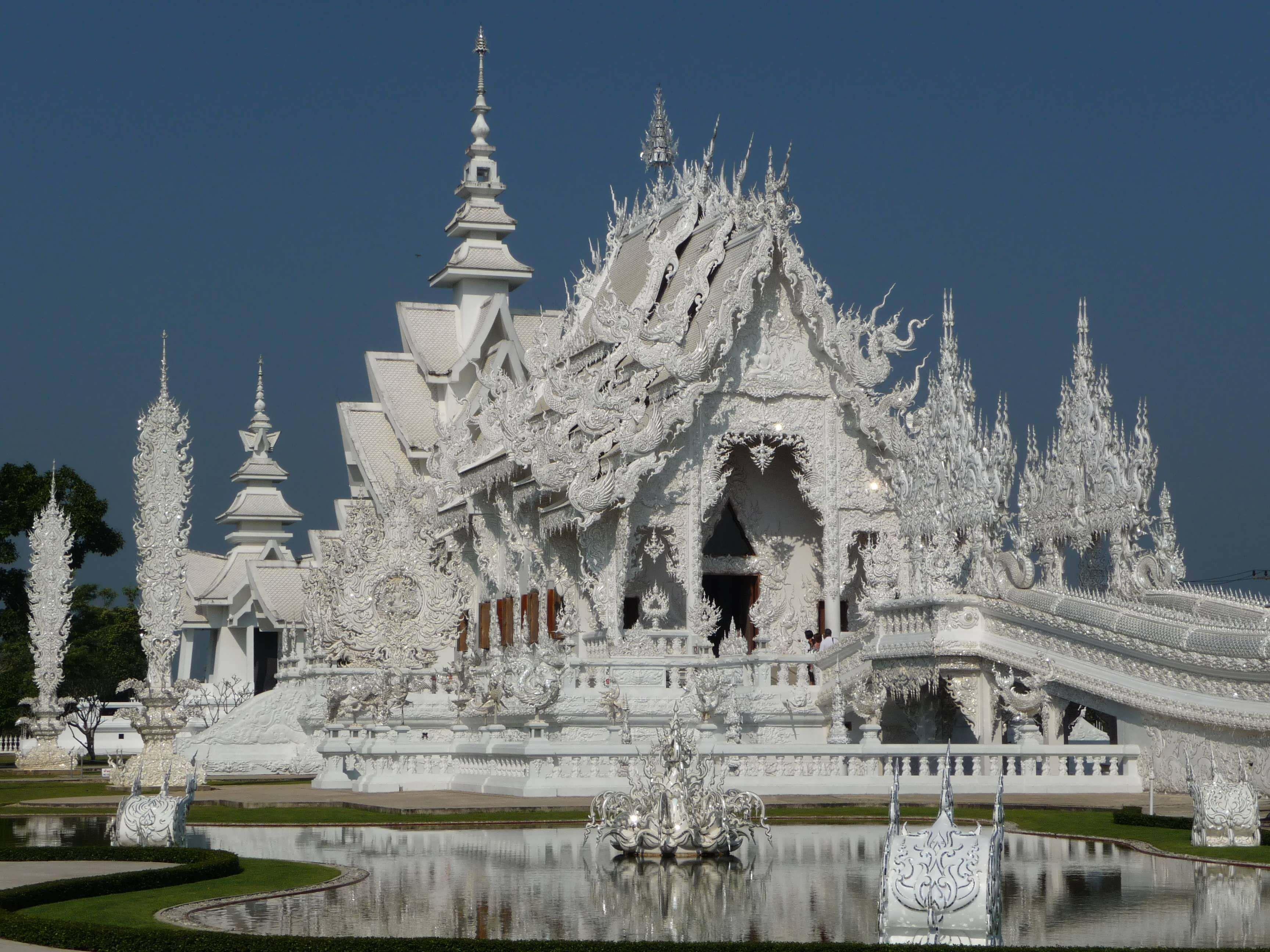 White church in the resort Chiang Mai, Thailand