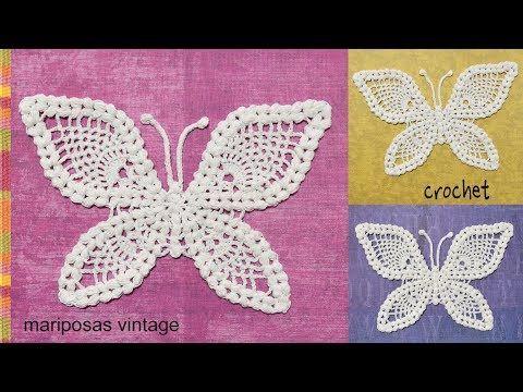 Mariposa tejida a crochet - Tejiendo Perú - YouTube | Crochet ...