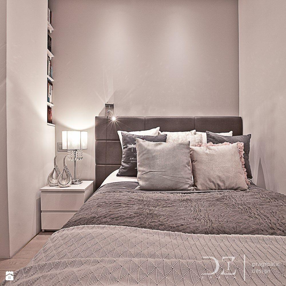 D Interiors Mała Sypialnia: Zagłówek, Szarości I Biel