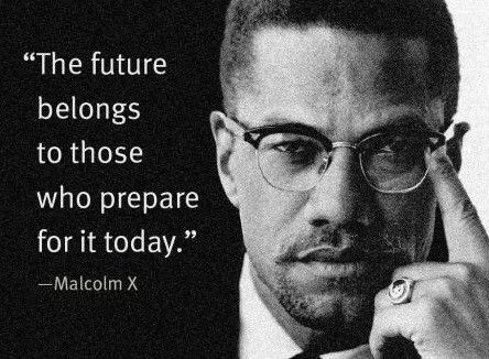 Malcolm X quote - good for MX school art project?