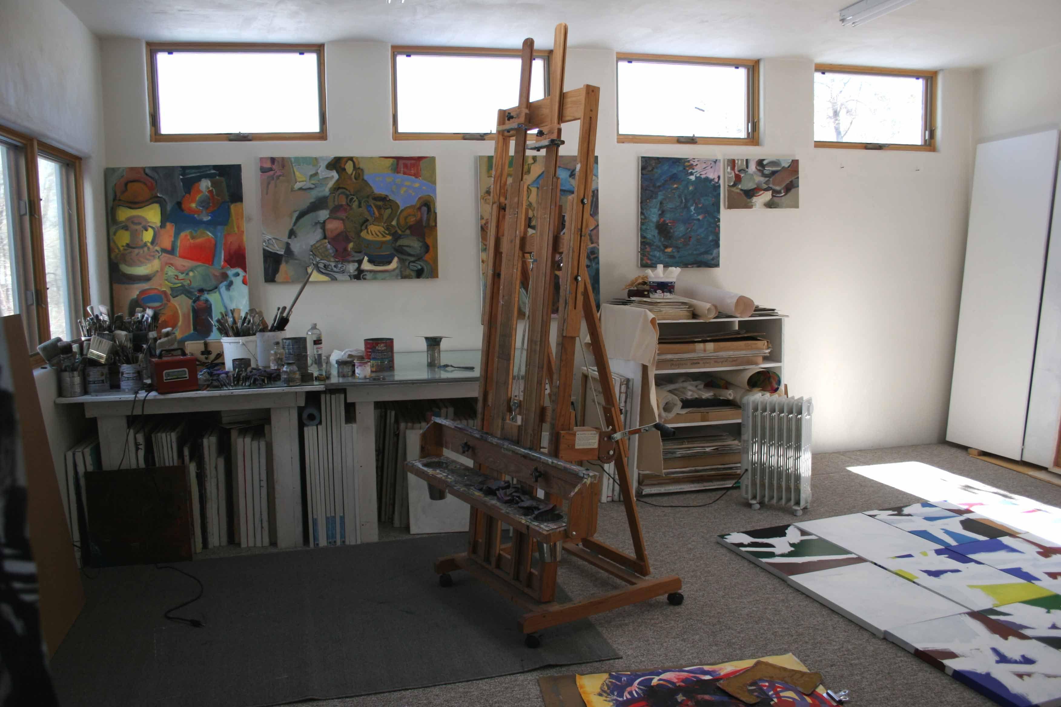 Cydney taylor art studio at home painting studio studio