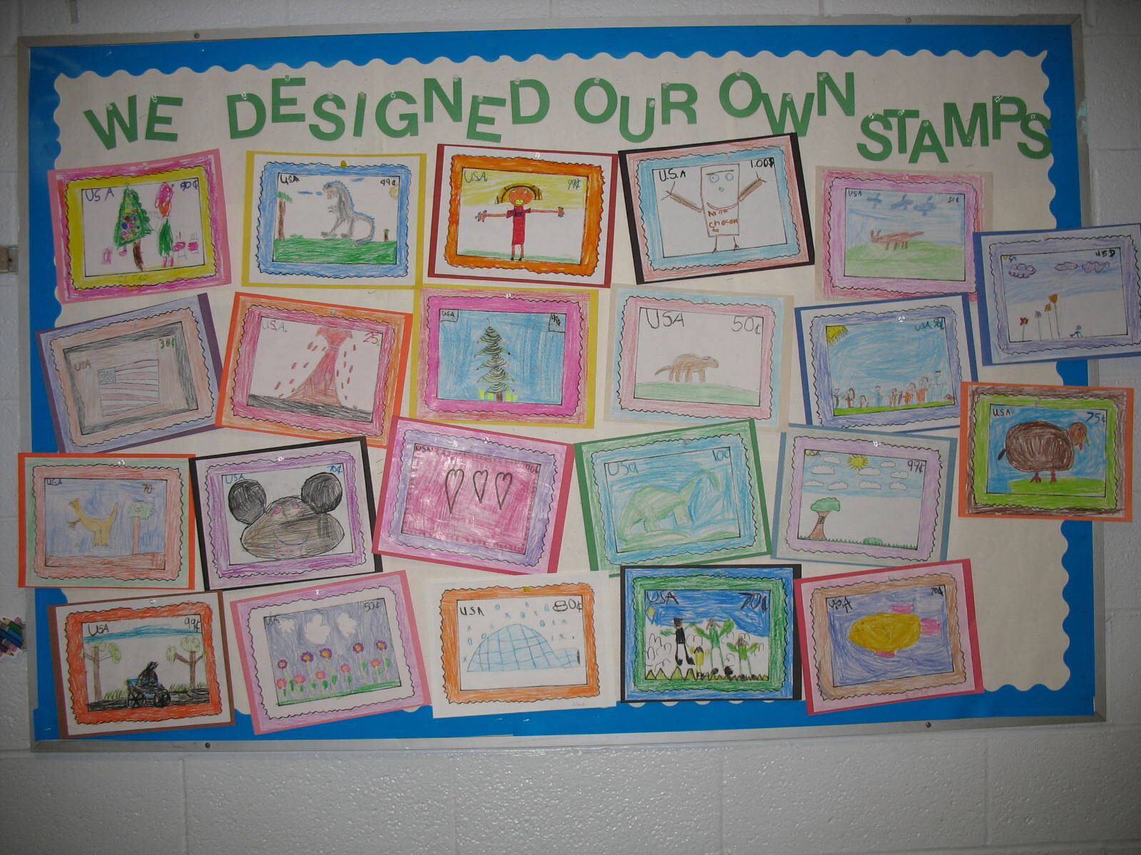 We Designed Our Own Stamps