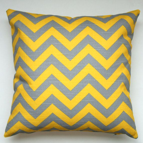 Premier Prints Zig Zag- Corn Yellow and Grey Chevron- Fabric By ...