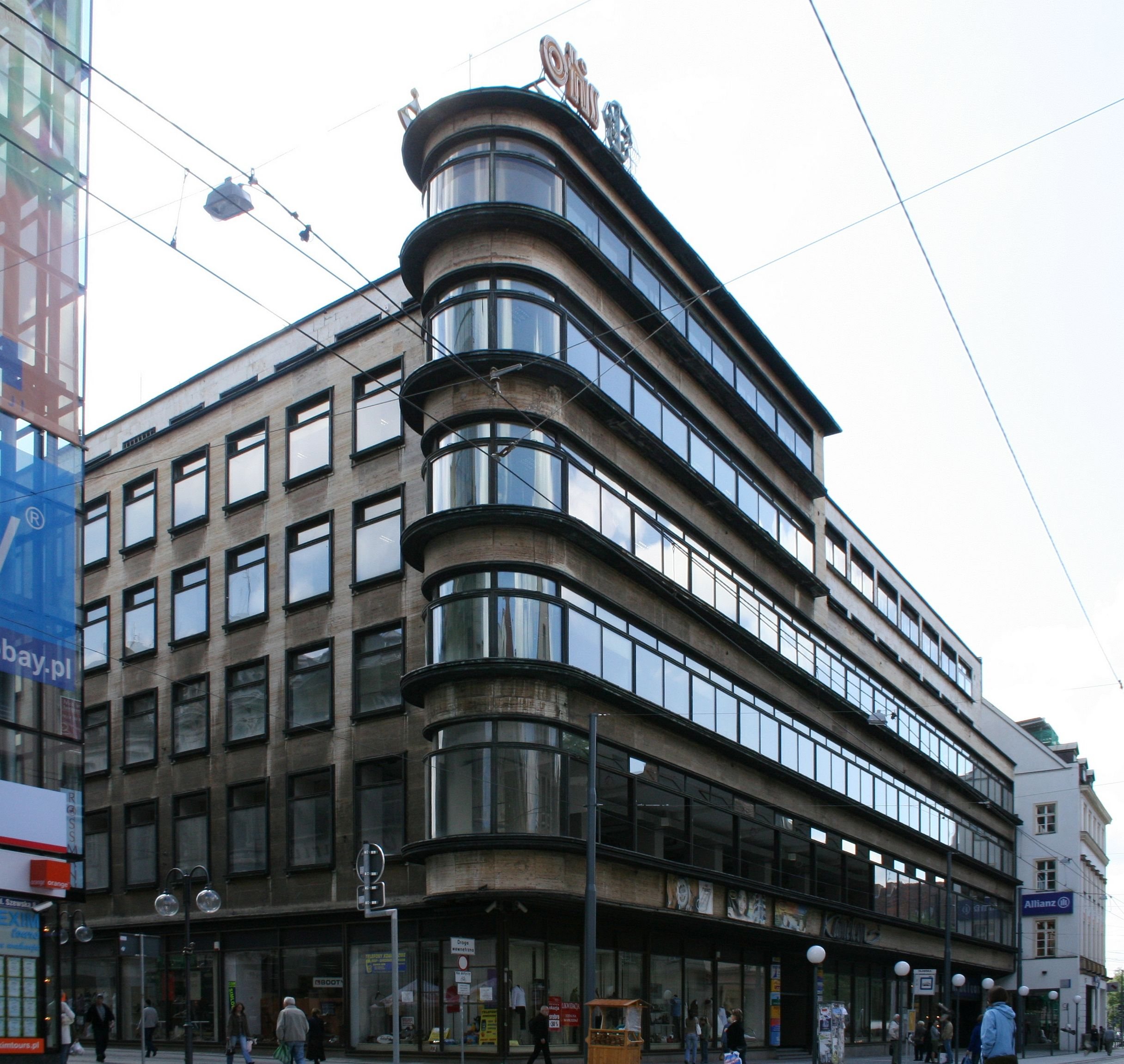 ehem kaufhaus schocken breslau wroclaw architects erich mendelsohn architektur kaufhaus. Black Bedroom Furniture Sets. Home Design Ideas