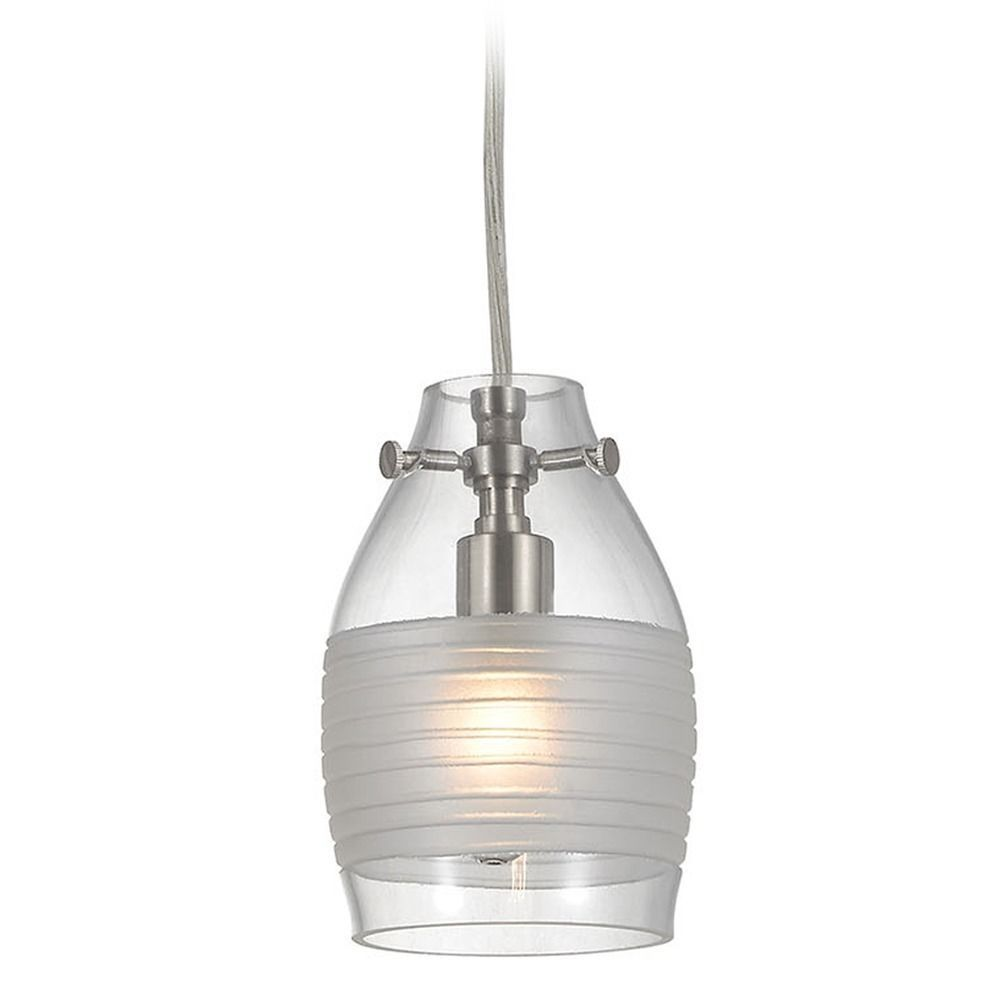 Elk Lighting Carved Glass Brushed Nickel Mini-Pendant Light with Bowl / Dome Shade  sc 1 st  Pinterest & Elk Lighting Carved Glass Brushed Nickel Mini-Pendant Light with ... azcodes.com