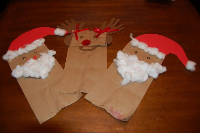 Imgenes De Christmas Crafts With Paper Bags