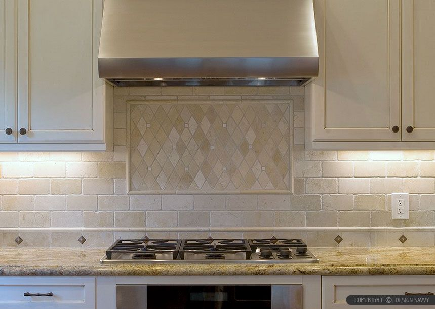6 Antiqued Ivory Subway Backsplash Tile Idea Decor Travertine