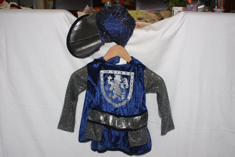 Pottery Barn Kids 2 Piece Blue Knight Boys Halloween