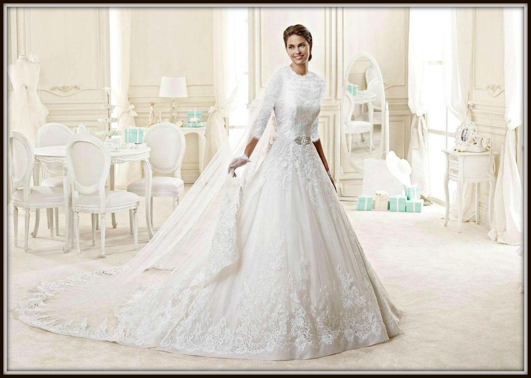 Modest Wedding Dress With Sleeves By Couture De Bride Kallah