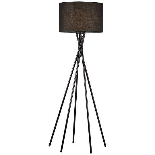 Kathy Ireland Stage One Metal Black Hollywood Floor Lamp