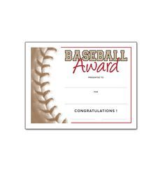 baseball awards for youth  Free Certificate Templates for Youth Athletic Awards   Southworth ...