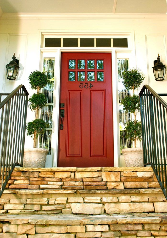 Farmhouse doors exterior entry traditional with wrought
