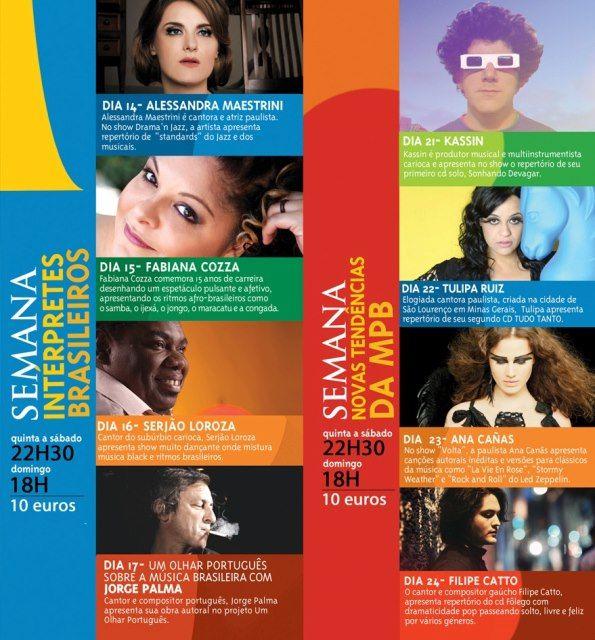 Semana Interpretes Brasileiros - Lisboa - Portugal