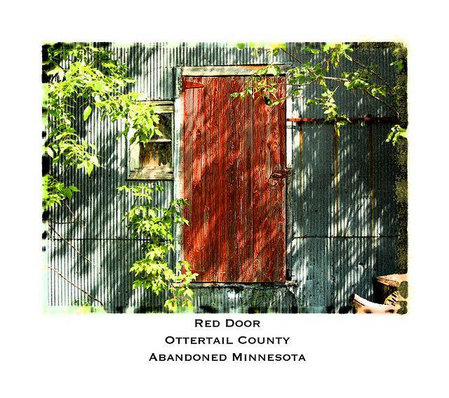 Red door, Ottertail County, MN