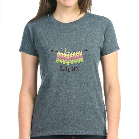 Knit Wit T-Shirt on CafePress.com