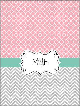 Teacher Binder Covers - Pretty Pink & Tiffany's Blue Theme ...