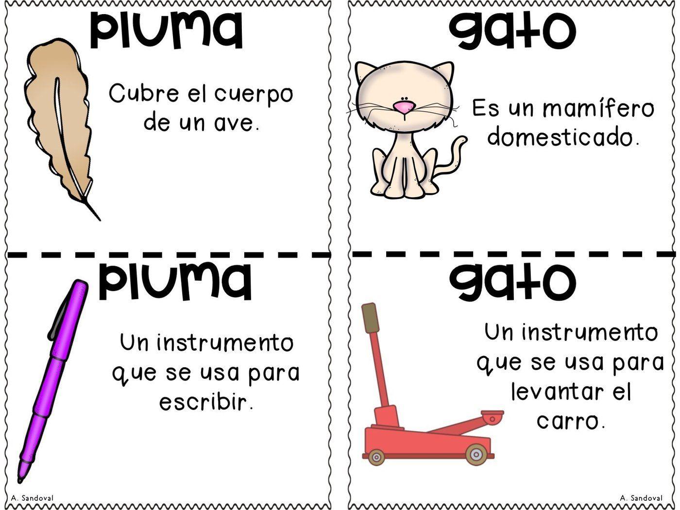 Homografos Homographs Homographs Bilingual Activities Picture Cards