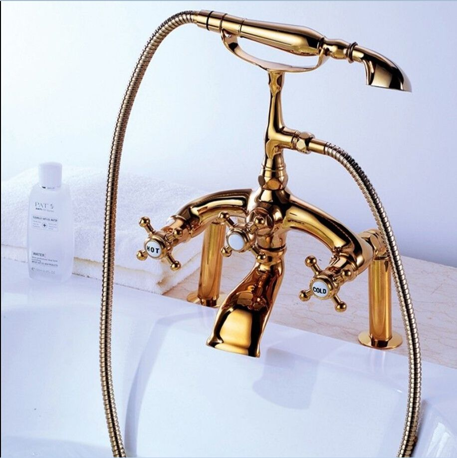 Free shipping Modern Bathroom Deck Mount Clawfoot Bath Tub Filler ...