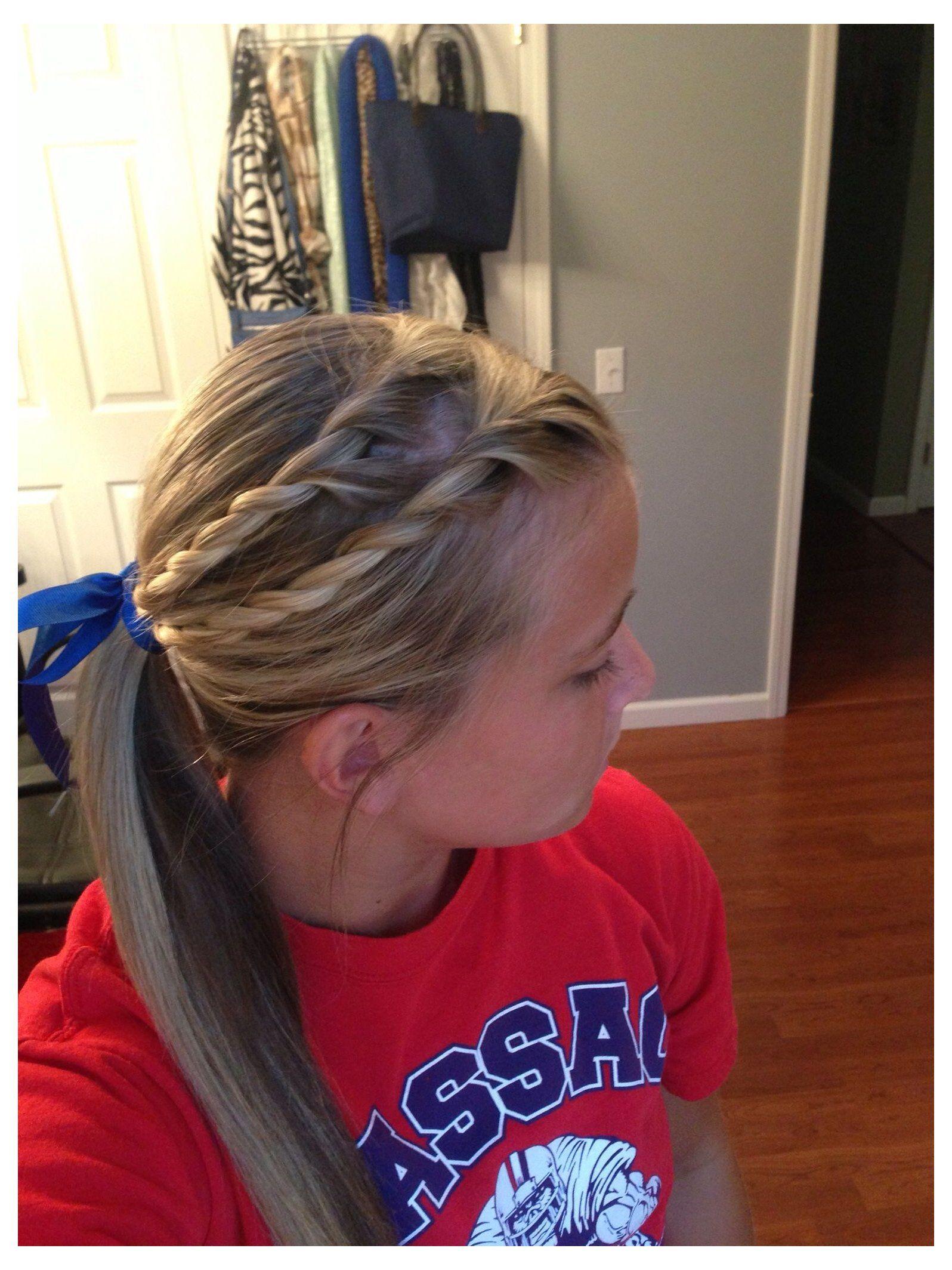 Pin By Brandy Miller On Hair In 2021 Softball Hairstyles Sports Hairstyles Athletic Hairstyles