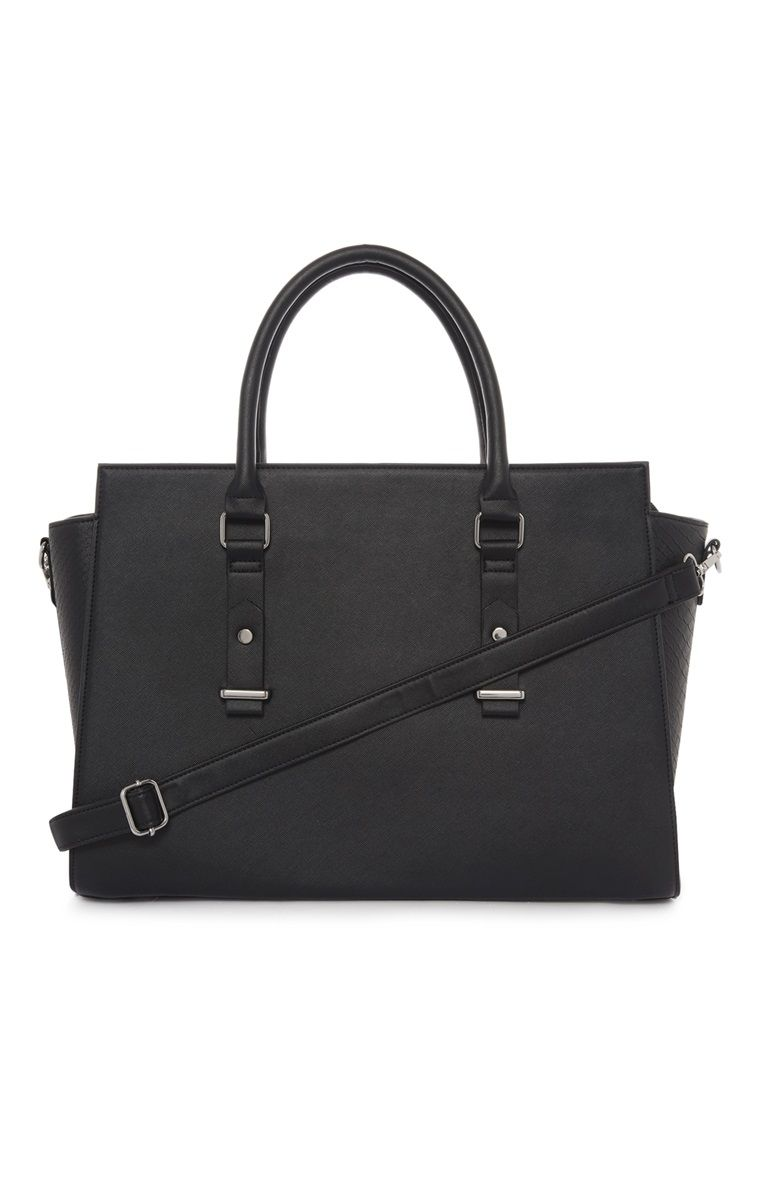 Black Oversized Wing Tote Bag For Fashionable Primark Ladies ...