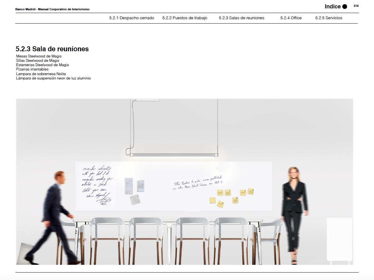 Banco Madrid Manual Corporativo - Interiors Brand Book - Scad Proyectos / Stefano Colli - Grafic Design Aranda