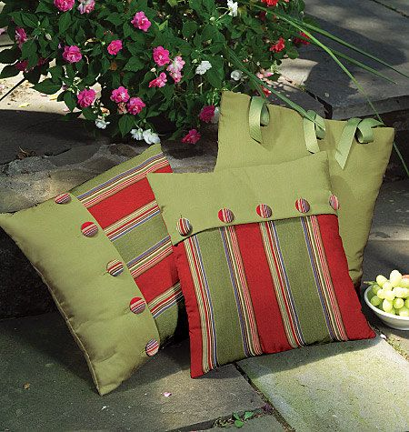 outdoor pillow and cushions sewing pattern mccalls 4124 via etsy pillow coussin. Black Bedroom Furniture Sets. Home Design Ideas