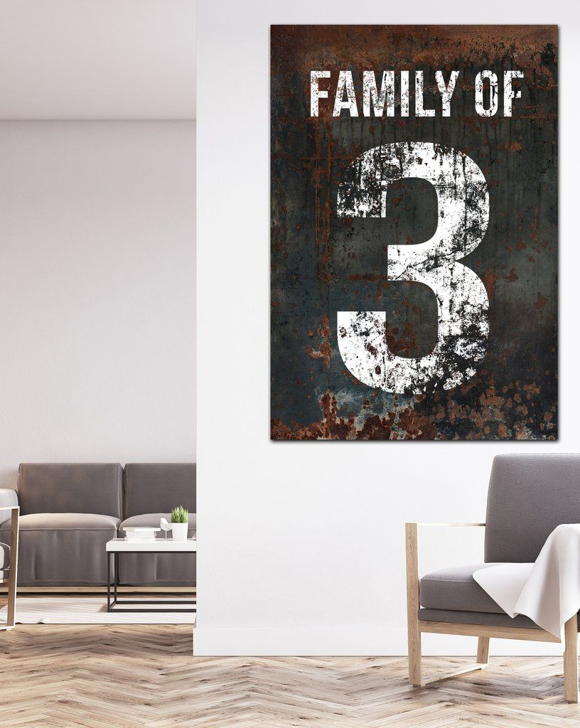 Black Family Number 3 Sign Canvas Print Walls Art In 2020