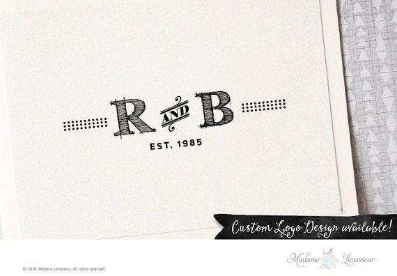 Premade logo design vintage logo design fashion by MadameLevasseur