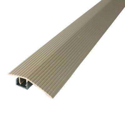 Cinch 1 8125 In X 36 In Spice Fluted Reducer Transition Strip For Uneven Floors With Snap Track Transition Strips Flooring Uneven Floor