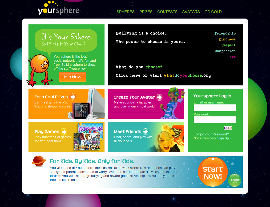 Parents Love Yoursphere The Social Network For Kids And