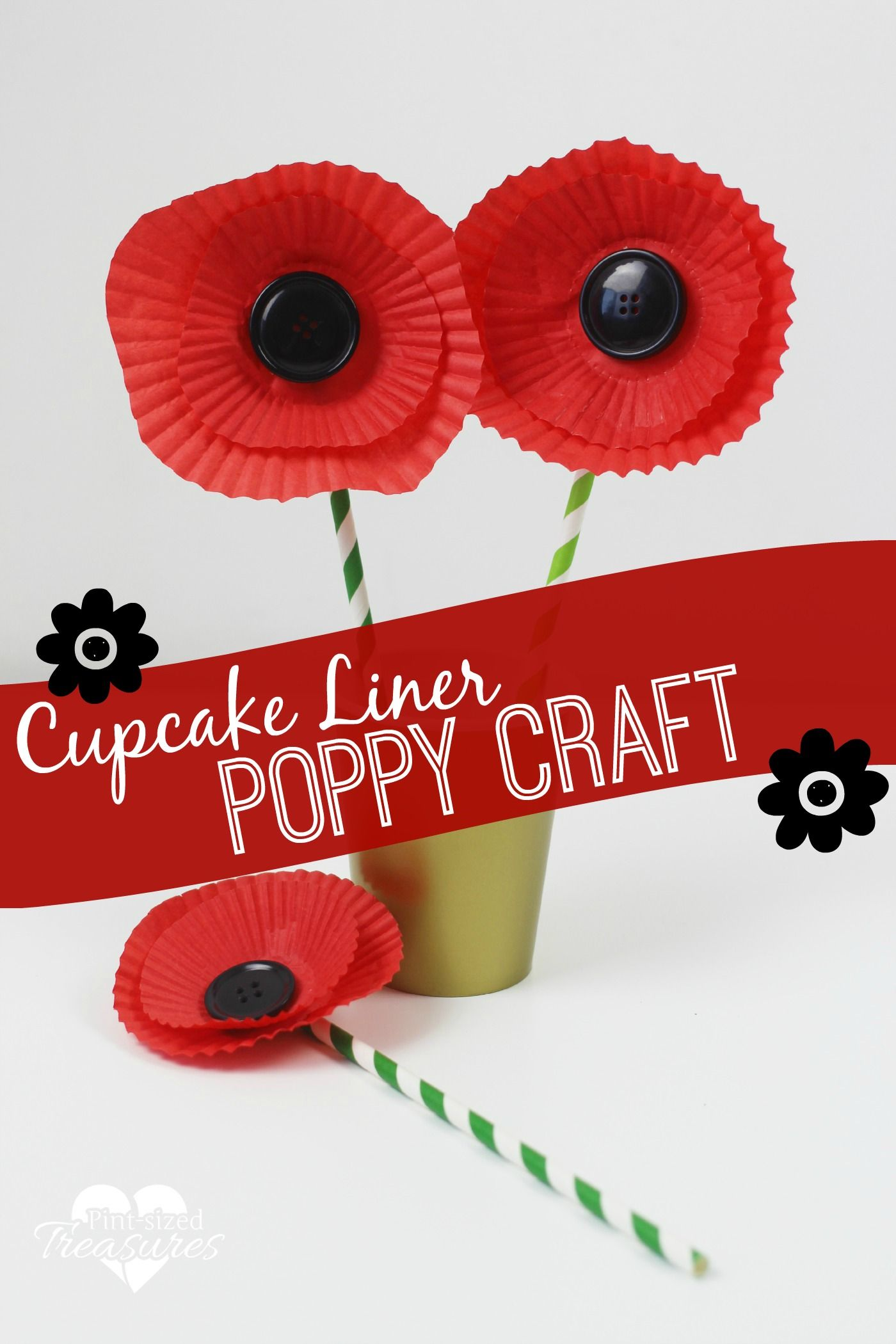 easy cupcake liner poppy craft flower crafts cupcake liners and