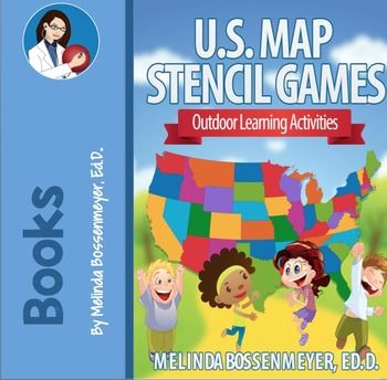 U.S. Map Stencil Games: Outdoor Learning Activities | U.S. Map ...