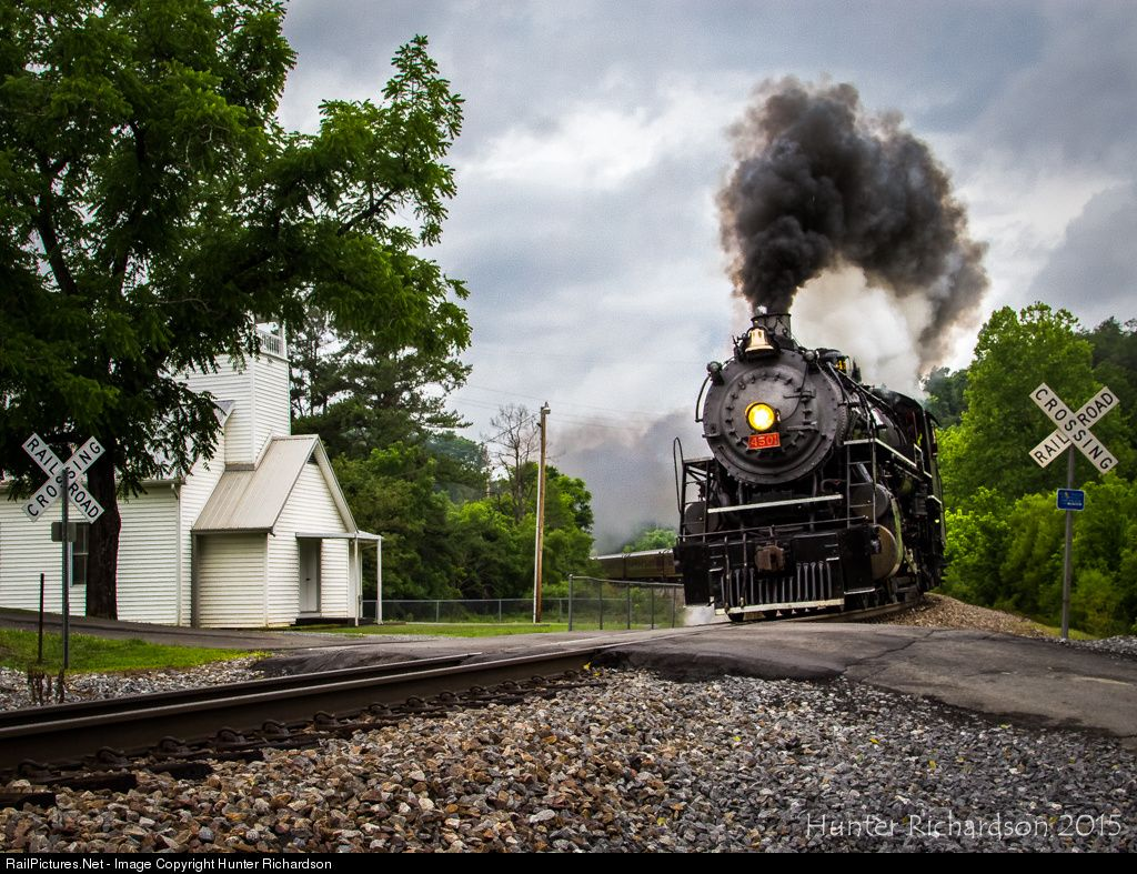 RailPictures.Net Photo: SOU 4501 Norfolk Southern Steam 2-8-2 at Watauga, Tennessee by Hunter Richardson