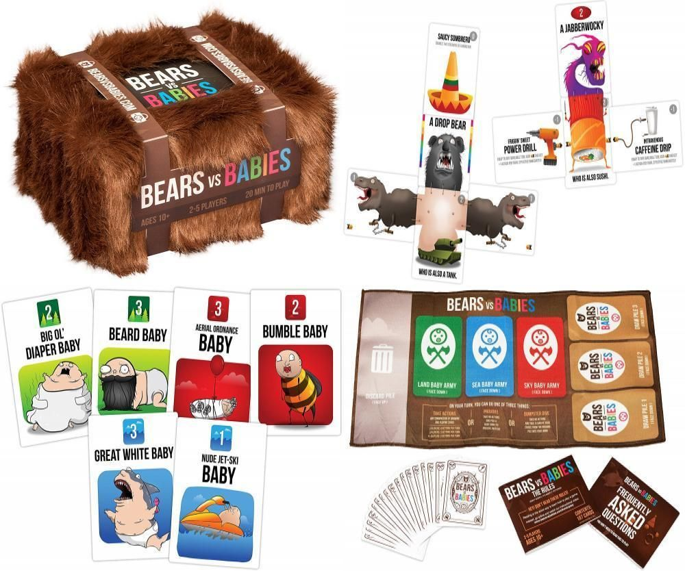 Bears Vs Babies A Card Game From The Creators Of Exploding Kittens Explodingkittensllc Exploding Kittens Card Games Xmas Gifts