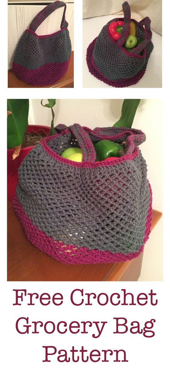 Crochet Grocery Bag Crafts Pinterest Crochet Free Pattern And