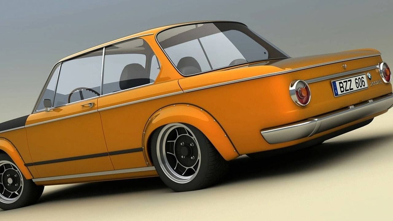 BMW 2002ti Alpina 3D rendering | BMW 2002 | Pinterest | 3d rendering ...