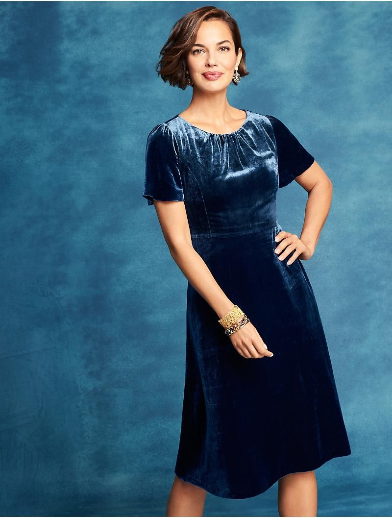 Velvet Fit Flare Dress Talbots Fit Flare Dress Velvet Evening Dress Flare Dress [ 1057 x 800 Pixel ]