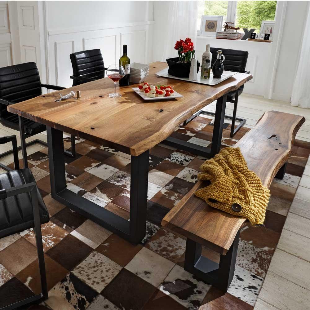 Beautiful Rustikale Esszimmer Tische 2 #1: Essgruppe Escoba Aus Akazie Massivholz