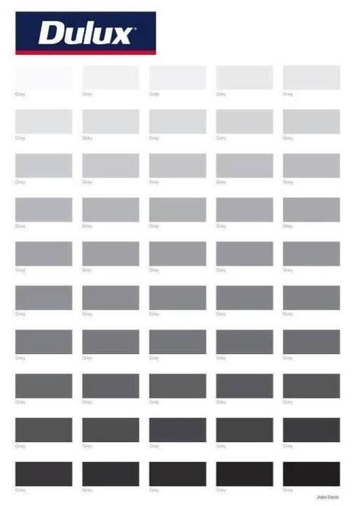 50 Shades Of Grey 50 Shades Of Grey Dulux Paint Colours Grey Paint Shades Dulux Grey