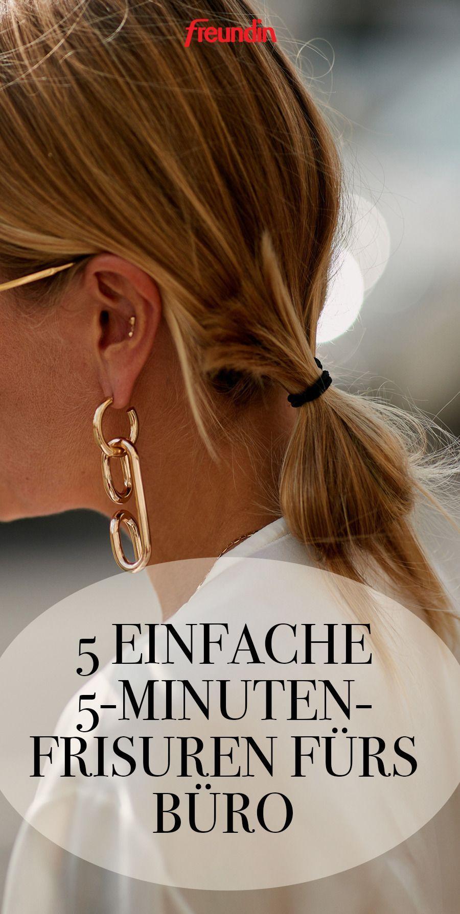 5 einfache 5-minuten-frisuren für die arbeit | freundin.de