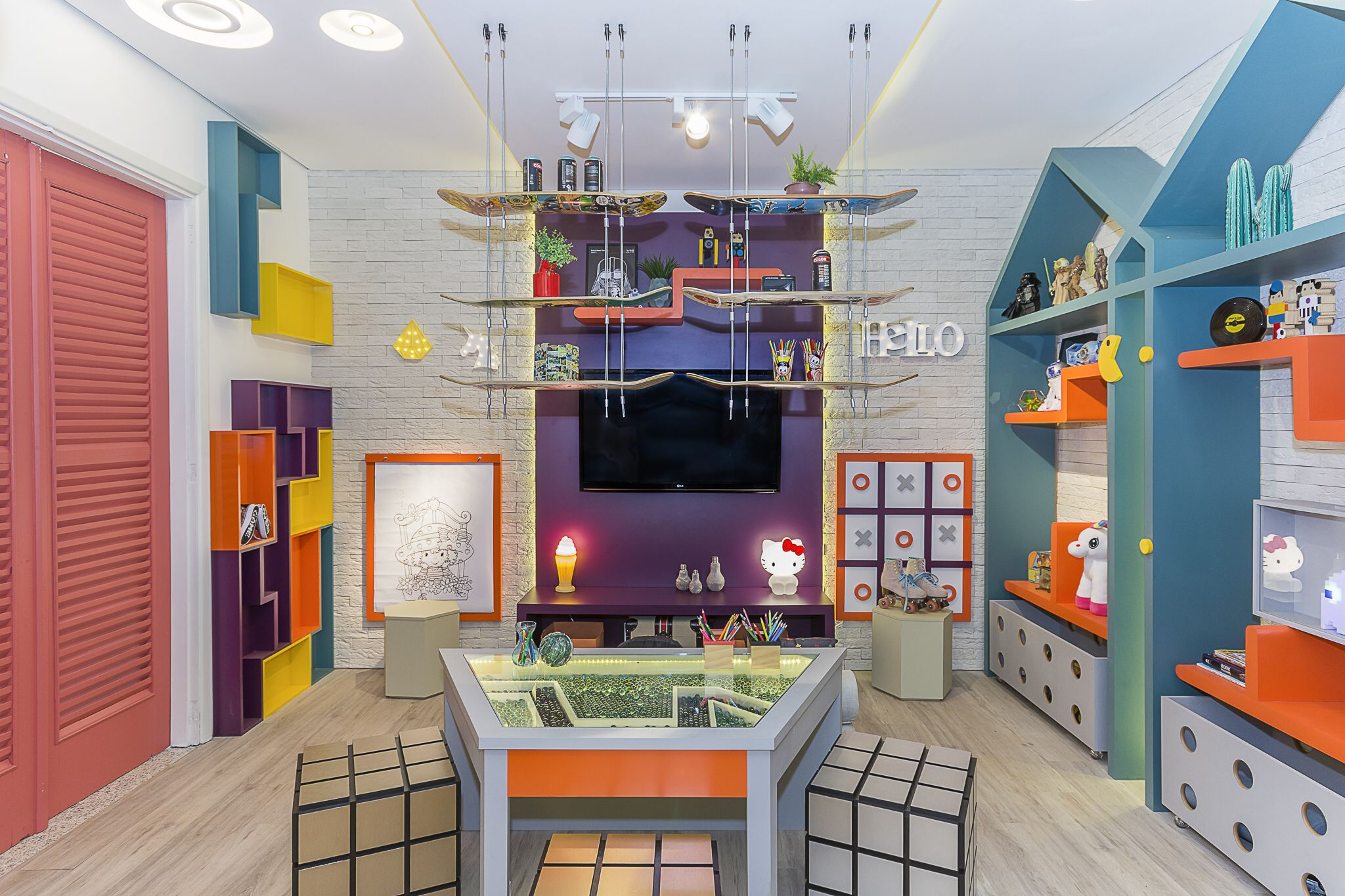 Espaco Infantil Inspirado Nos Anos 80 Ambiente Em Parceria Com A