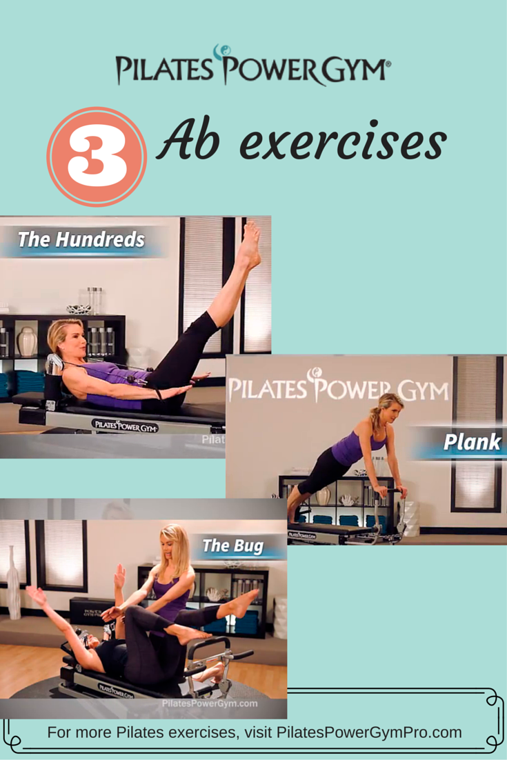Get your abs ready for bikini season with these great Pilates exercises on the Pilates Power Gym reformer #pilatesworkoutvideos