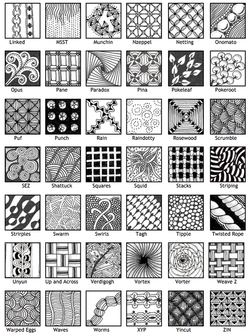 Zentangle patterns pdf download google 搜尋 禪繞畫