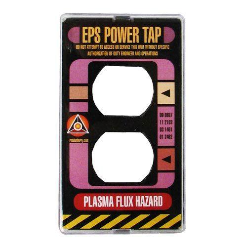 Star Trek Tng Power Plate Electrical Outlet Cover Roddenberry Star Trek Home Decor